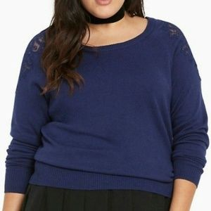 TORRID 00 10 Large Sweater Long Sleeves Lace